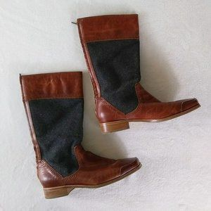 Wolverine 1883 Leather & Wool Riding Boots